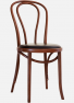 http://www.thonet.com.au/wp-content/uploads/2012/03/No18_Thonet6_customwalnutupholseat_studs_MI2.png#No.18 Thonet with Walnut finish and upholstered seat