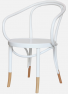 http://www.thonet.com.au/wp-content/uploads/2012/03/NoB9_lecorbusier_whitesocks_MI.png#No.B9 Le Corbusier with custom paint finish and Natural sock detail